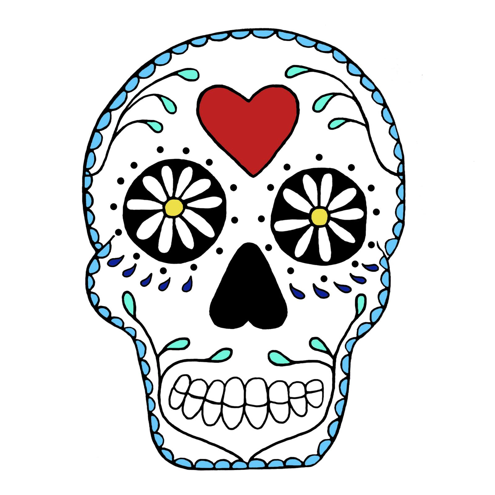 1600x1600 Skull Outline Clip Art 101 Clip Art