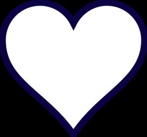 299x279 Astounding Inspiration Heart Clip Art Outline Midnight Blue
