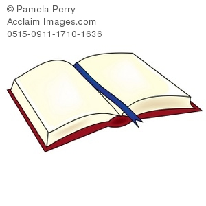 300x300 Clip Art Illustration Of A Book Laying Open