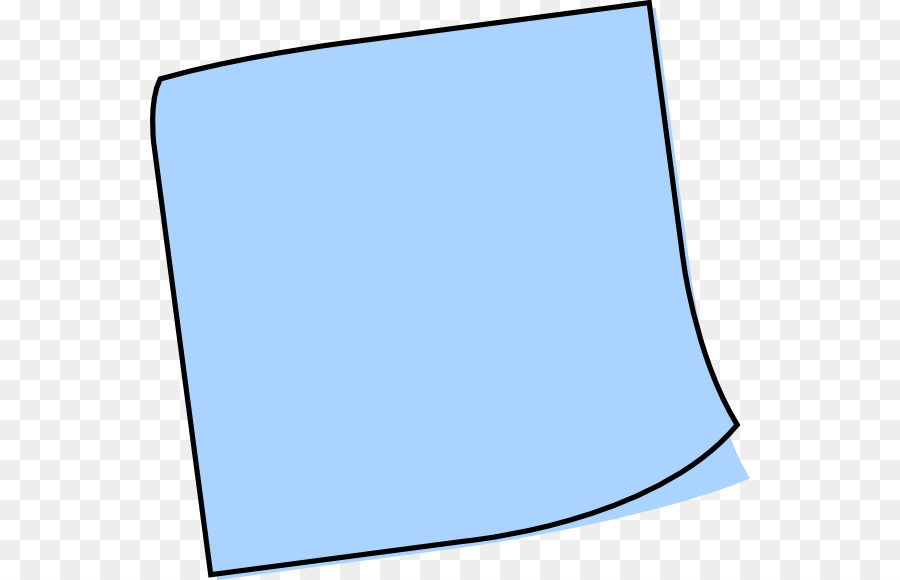 900x580 Post It Note Blue Paper Musical Note Clip Art