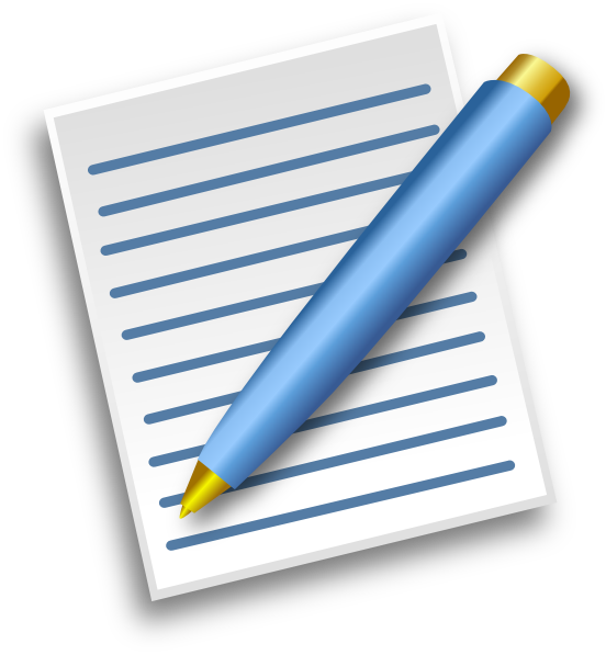 552x597 Pen And Paper Clipart Pen And Paper Clip Art