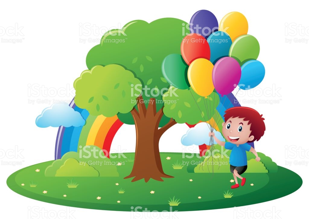 1024x726 Boy With Balloon In Park Clipart Amp Boy With Balloon In Park Clip