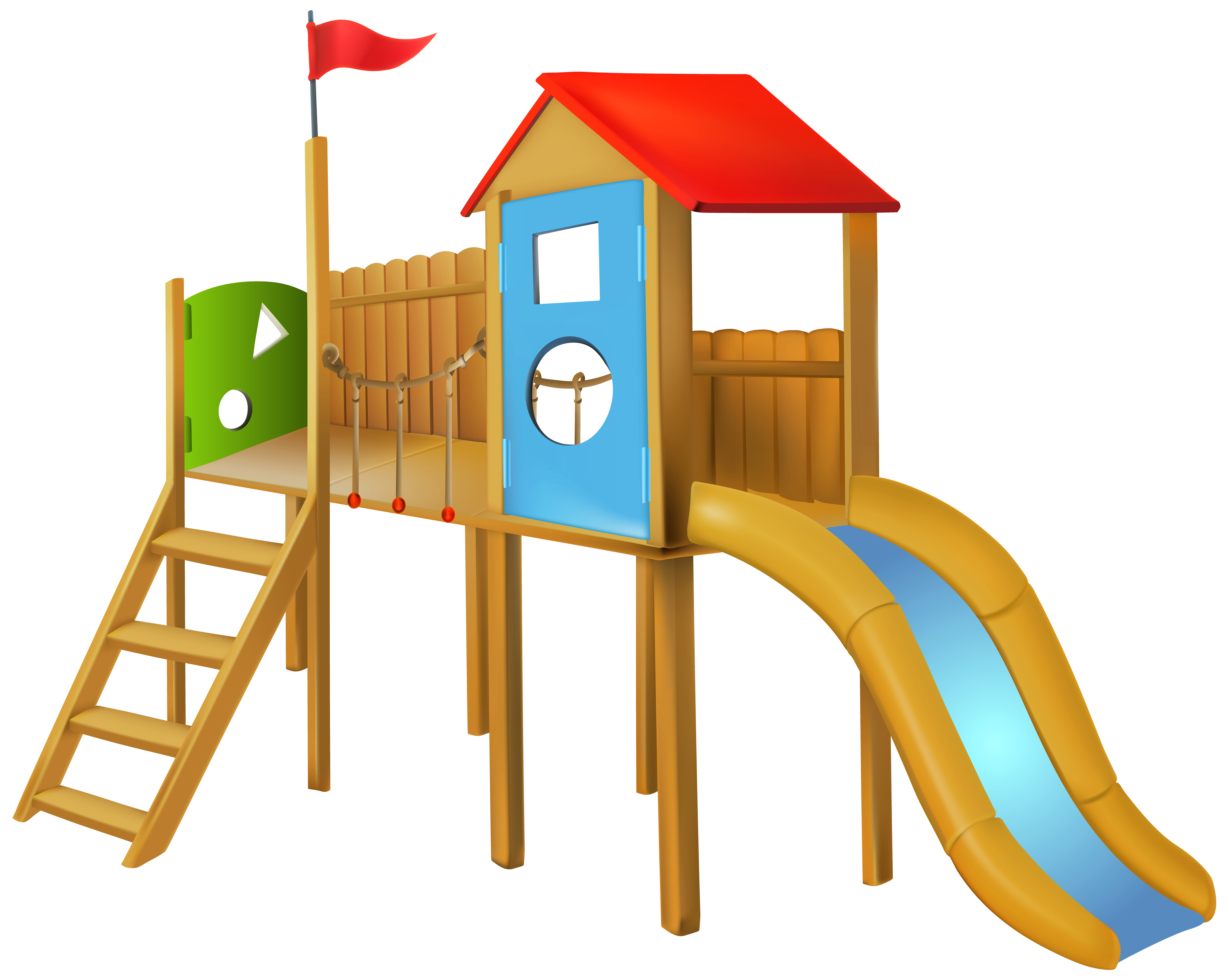 8000x6378 Park Slide Png Clip Art
