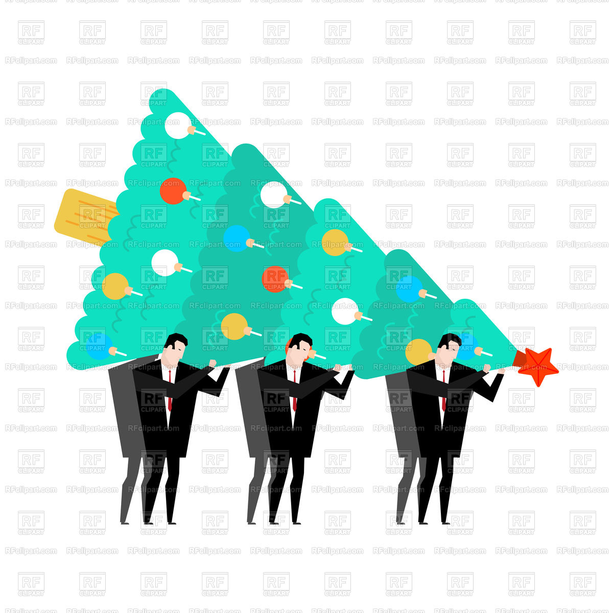 1200x1200 New Year's Corporate Party Royalty Free Vector Clip Art Image