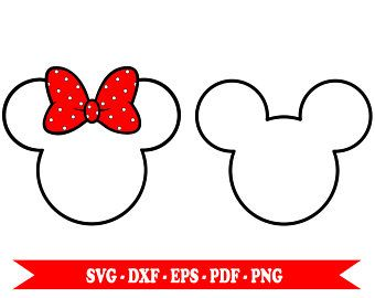 340x270 Minnie Mouse Svg, Mickey Mouse Svg, Clip Art Outline, In Svg