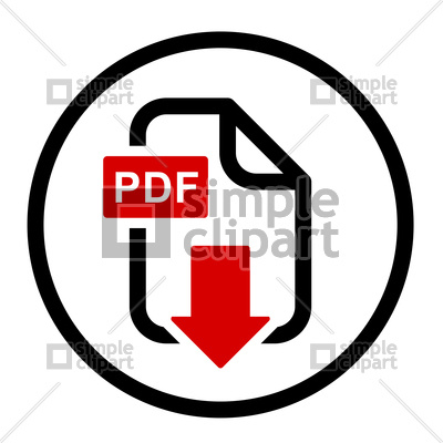 400x400 Pdf File Download Simple Icon Vector Image