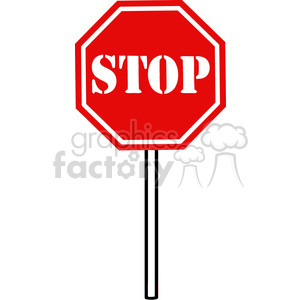 300x300 Royalty Free Clipart Of Traffic Sign Stop 386875 Vector Clip Art