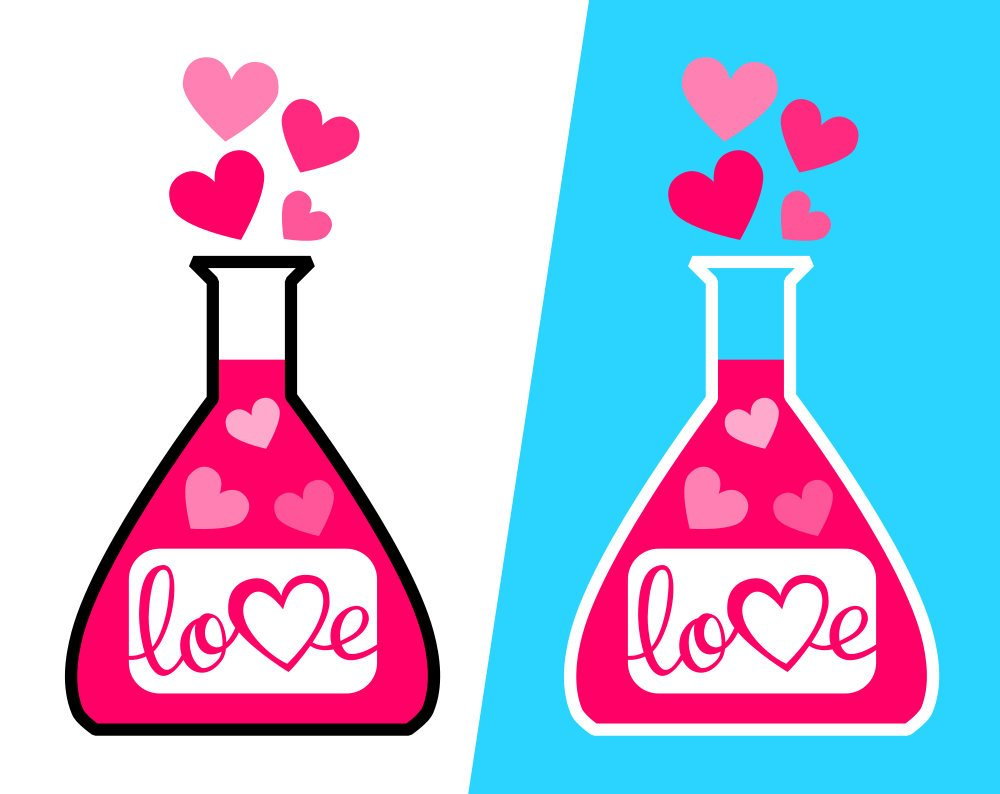 1000x794 Valentine's Day Love Potion Svg File, Love Potion Clipart Pdf