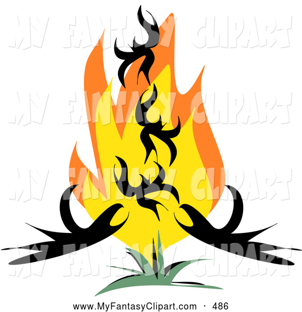 600x620 Clip Art Of A Rebirthing Phoenix Bird Rising From Red And Orange
