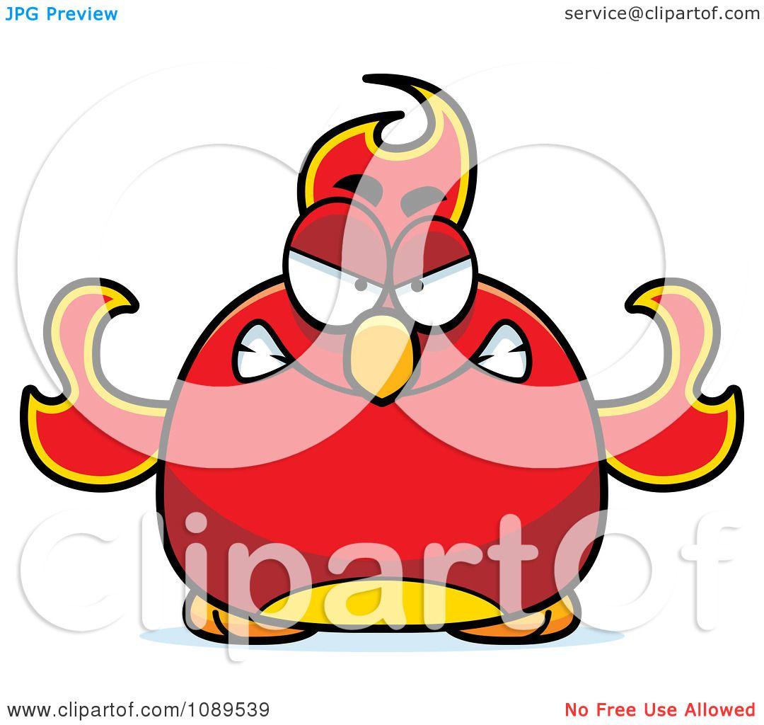 1080x1024 Clipart Chubby Angry Phoenix Fire Bird