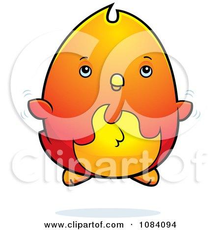 450x470 Clipart Chubby Phoenix Chick Flying