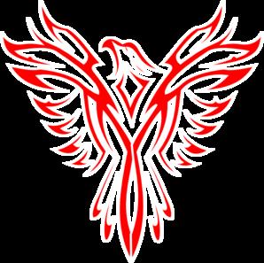 298x297 Red Phoenix Clip Art