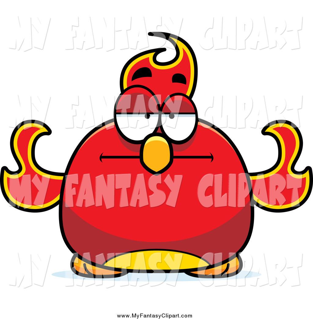 1024x1044 Clip Art Of A Chubby Skeptical Phoenix Fire Bird By Cory Thoman