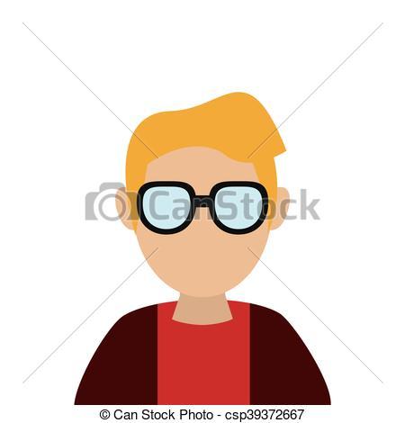 450x470 Flat Design Faceless Man Portrait Icon Vector Illustration Clip