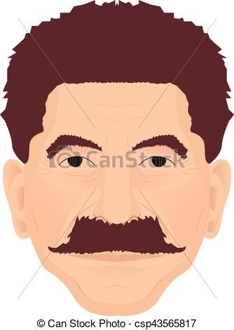 334x470 Joseph Stalin Portrait. Vector Illustration Of Soviet Leader