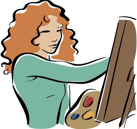 454x429 Portrait Clipart Painter Painting