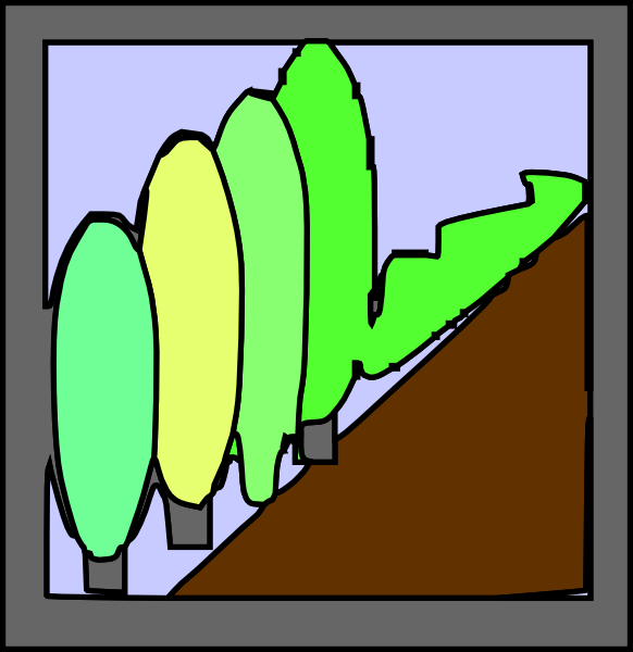 582x600 Cartoon Portrait Frame Clip Art