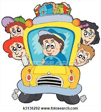 334x370 School Bus With Children Clipart School Buses, Clip Art School