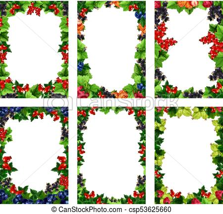 450x432 Vector Berry Or Fruit Posters Templates. Berry Posters Clip Art