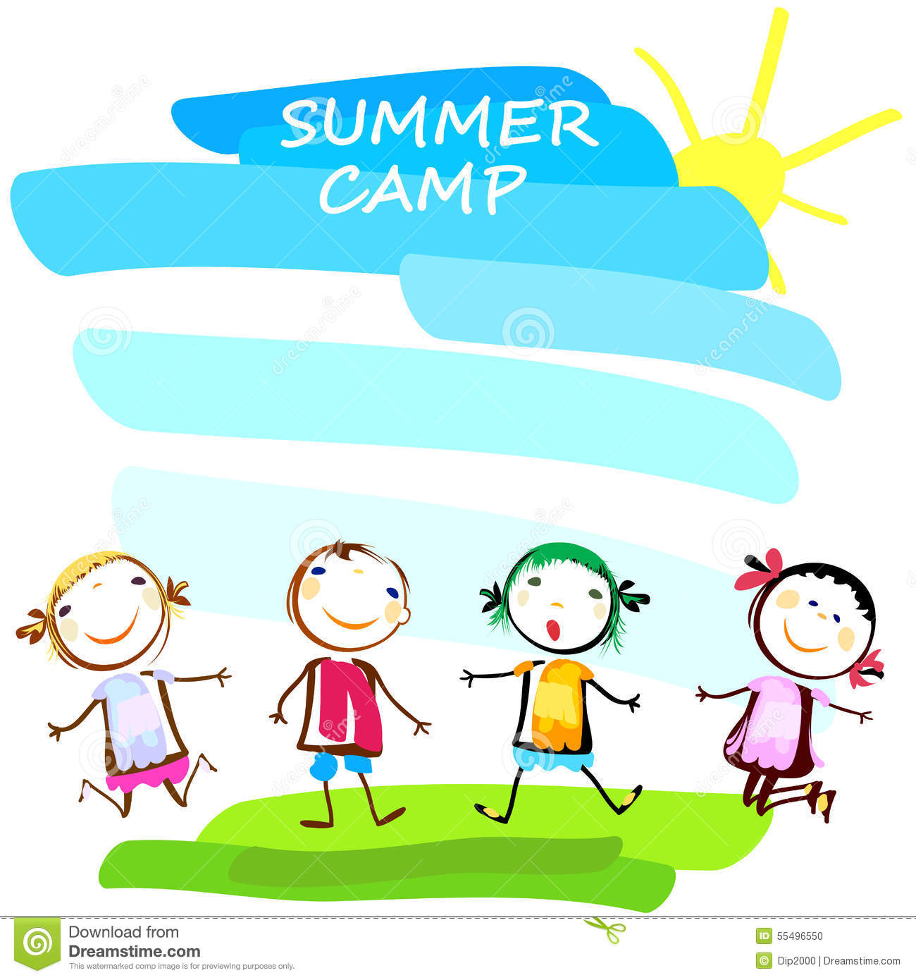 1300x1390 Clip Art Summer Camp Summer Camp Poster Happy Kids 55496550