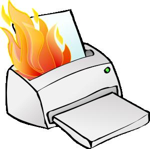 300x298 Printer Burning Clip Art