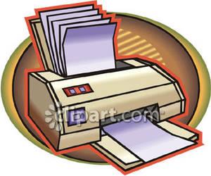 300x250 Printer Full Of Paper