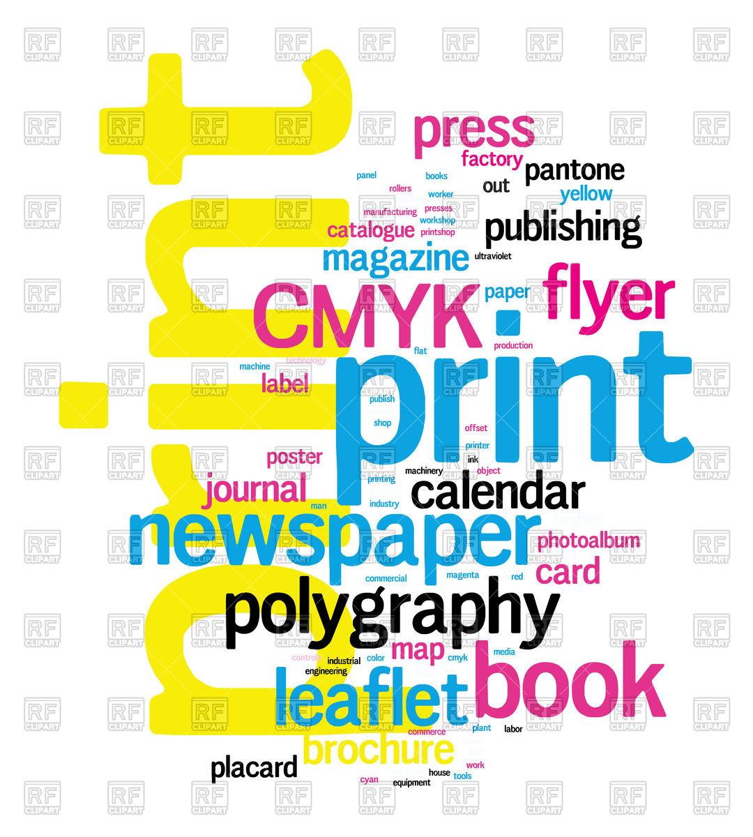 1080x1200 Printing Word Cloud Royalty Free Vector Clip Art Image