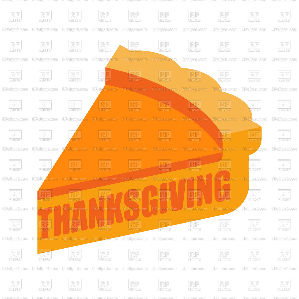 1200x1200 Thanksgiving Piece Of Pumpkin Pie Royalty Free Vector Clip Art