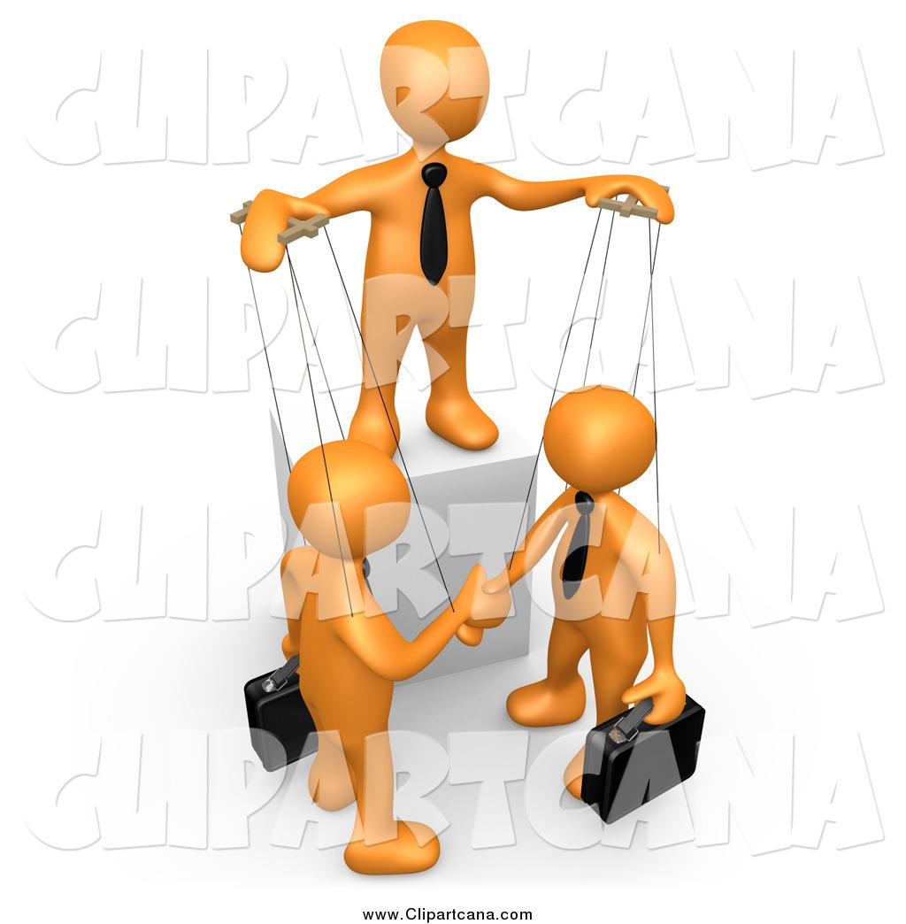 1024x1044 Clip Art Of A 3d Orange Man Boss Controlling Business Men