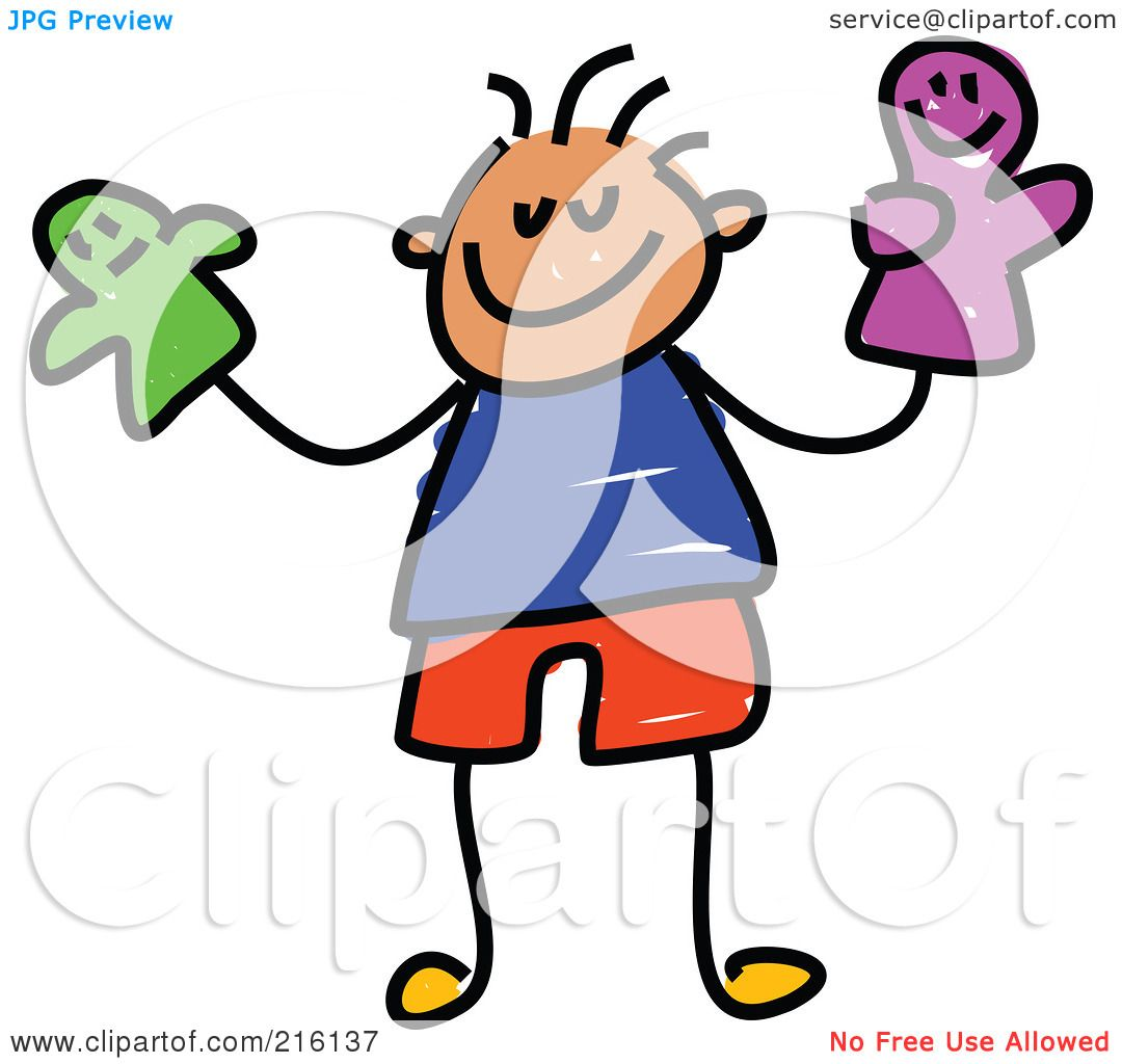 1080x1024 Royalty Free (Rf) Clipart Illustration Of A Childs Sketch Of A Boy