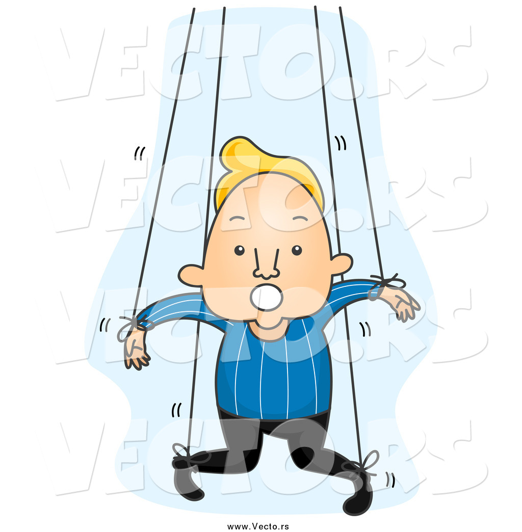 1024x1044 Vector Of A Blond White Man Attached To Puppet Strings By Bnp