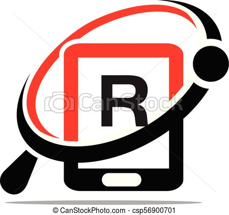 450x423 Hand Phone Search Initial R Vector Clipart