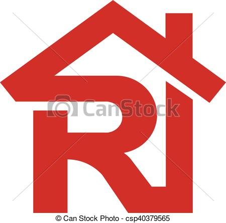 450x444 Letter R Realtor Real Estate Logo, Letter R With Roofing Clip