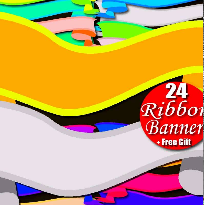 796x800 Digital Clipart Ribbon Banner Amp Rainbow Border Frame Tag