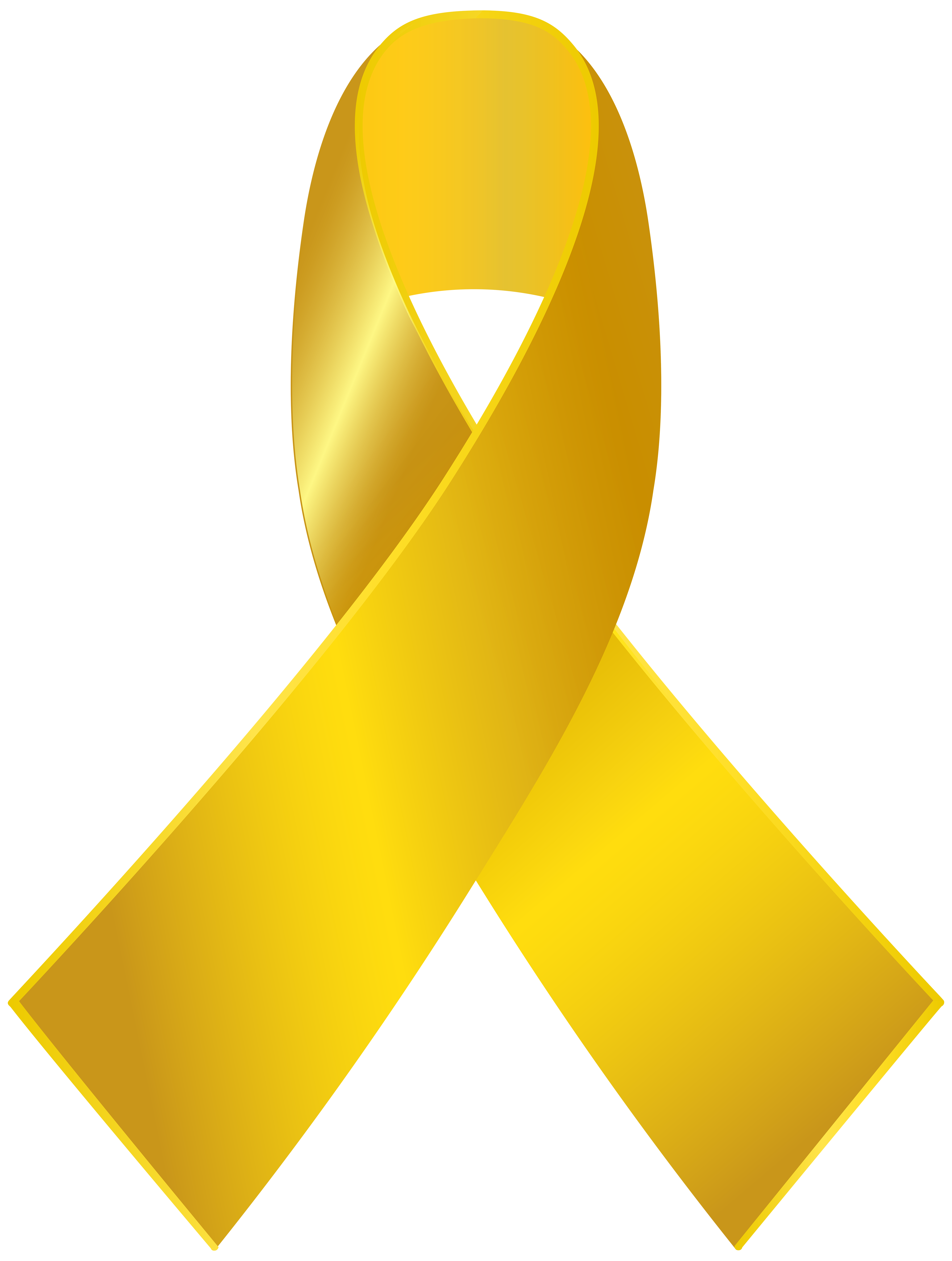4531x6000 Gold Awareness Ribbon Png Clip Art