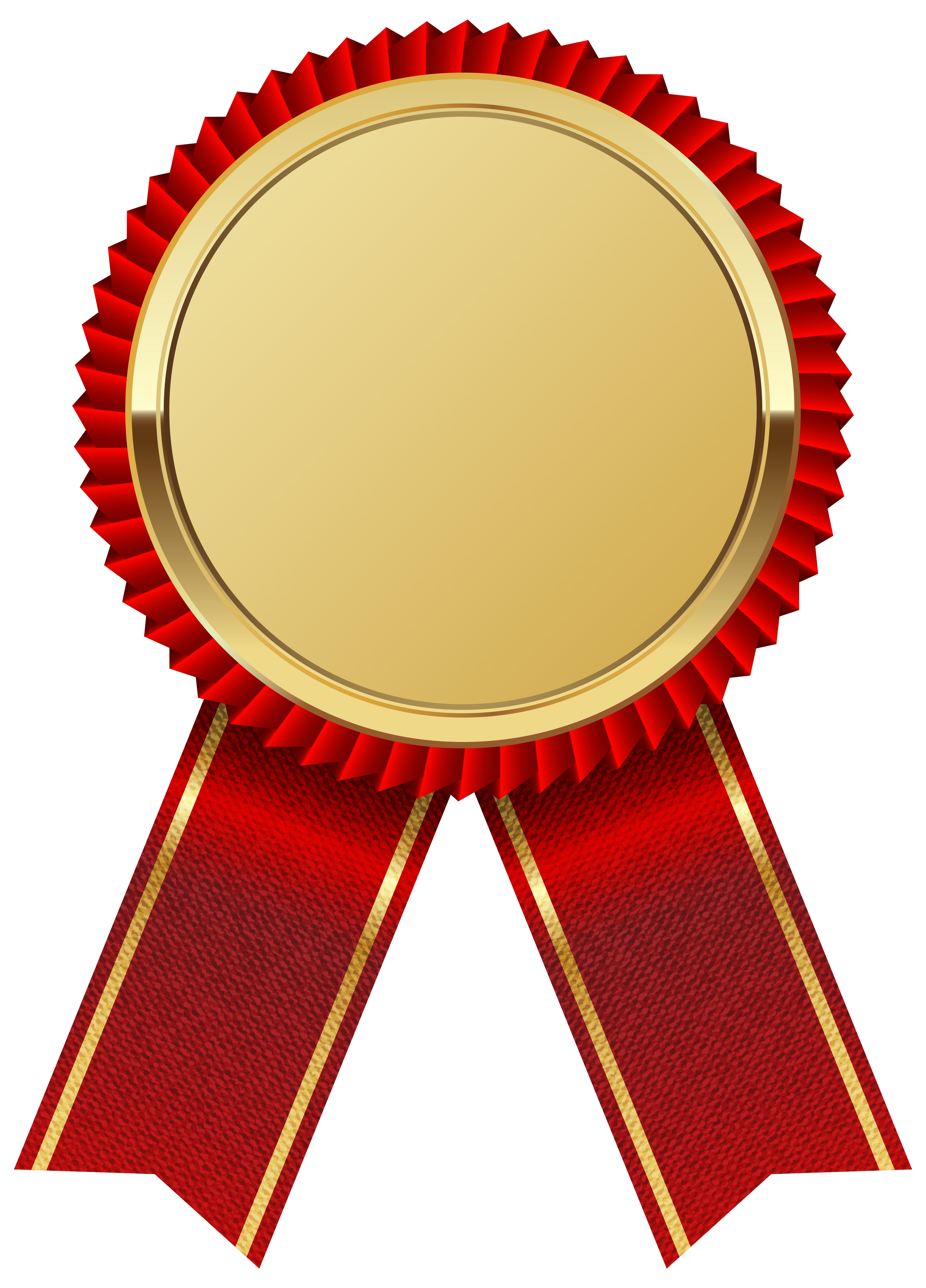 4354x6054 Gold Medal With Red Ribbon Png Clipart Image Ribbony