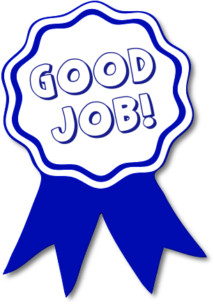 307x437 Good Job Ribbon Clip Art Good Job Blue Ribbon