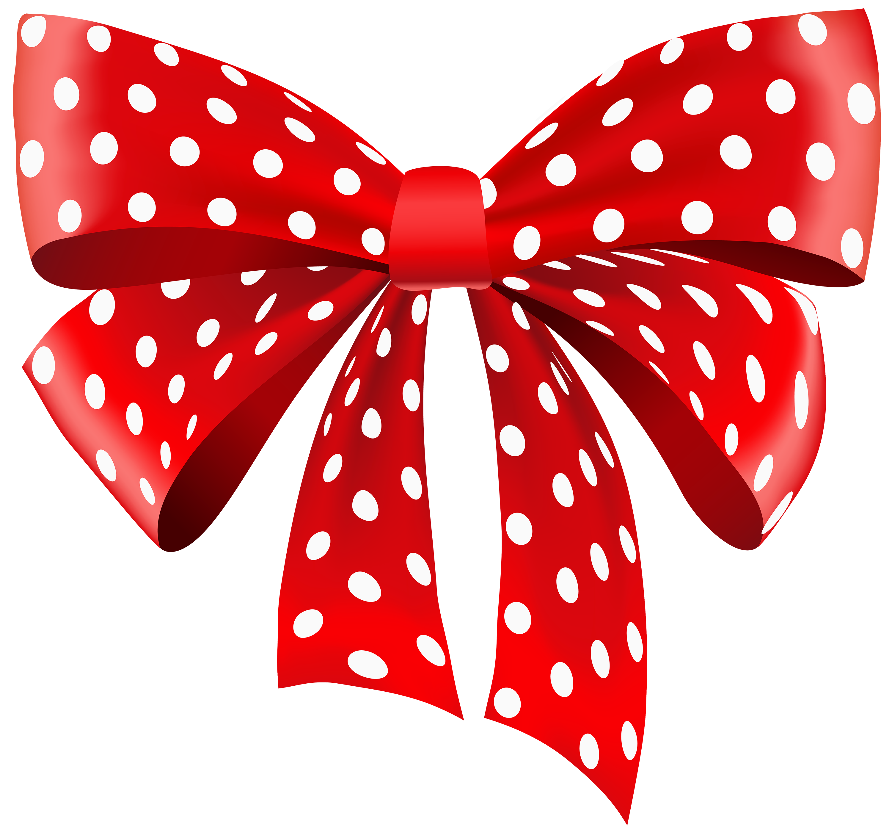 3000x2790 Red Dotted Ribbon Png Clipart