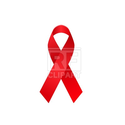 400x400 Aids Awareness Ribbon Royalty Free Vector Clip Art Image