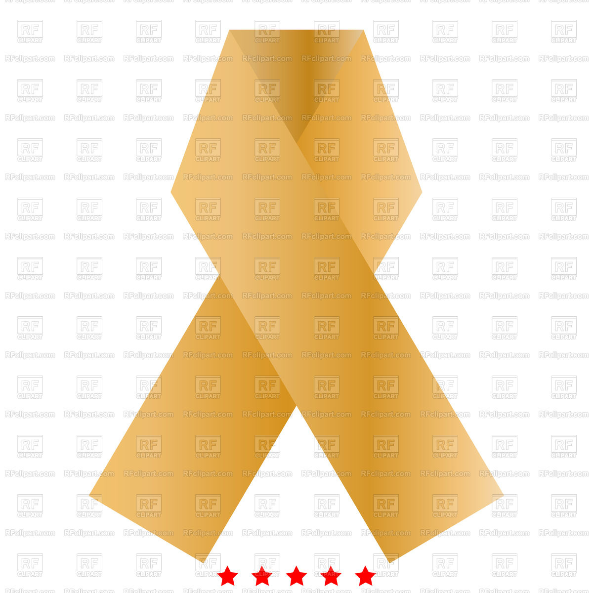 1200x1200 Ribbon Icon Simple Style Royalty Free Vector Clip Art Image