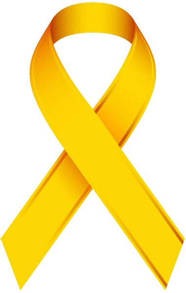 381x600 Gold Cancer Ribbon Clip Art Gold Clipart Awareness Ribbon 3