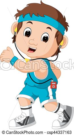 257x470 Illustration Of Runner Man Cartoon Clip Art Vector
