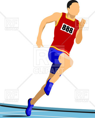 321x400 Long Distance Runner Royalty Free Vector Clip Art Image