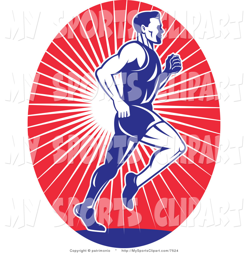 1024x1044 Sports Clip Art Of A Runner Over Red Rays Logo By Patrimonio