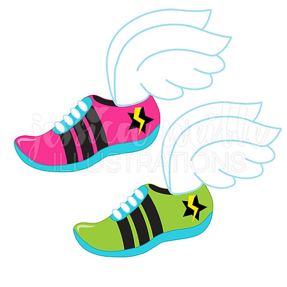 570x570 Track Logo Cute Digital Clipart Runner Clip Art Running