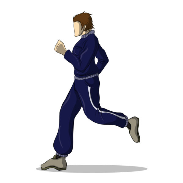 600x600 Clip Art Of A Female Runner