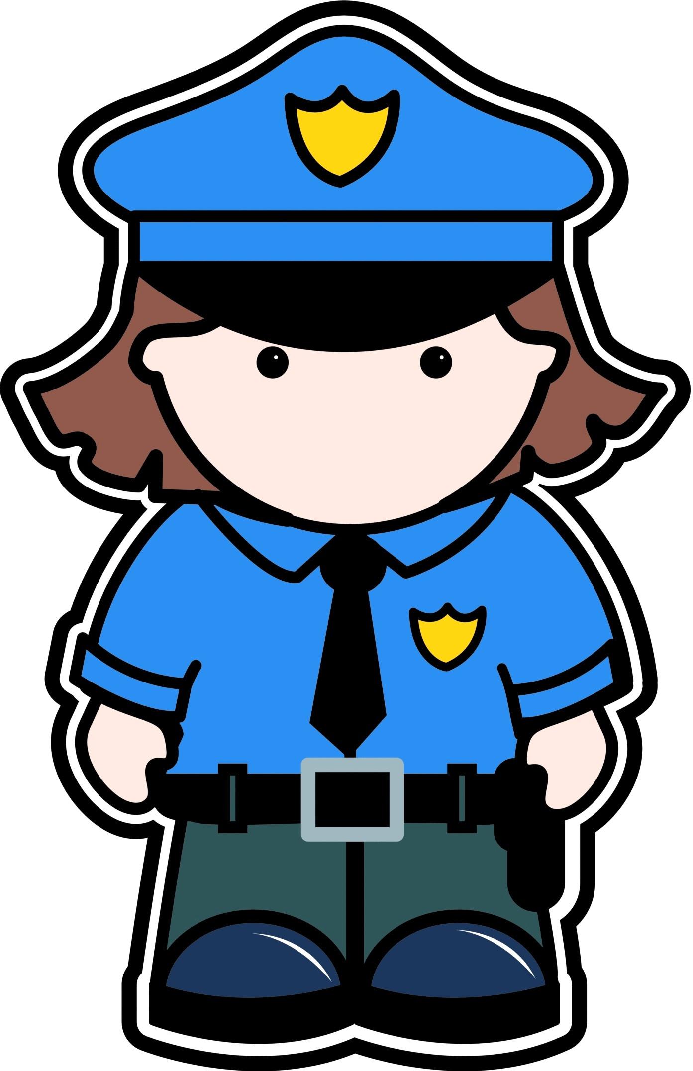1393x2153 Female Police Cliparts Free Download Clip Art For Top Of Officer