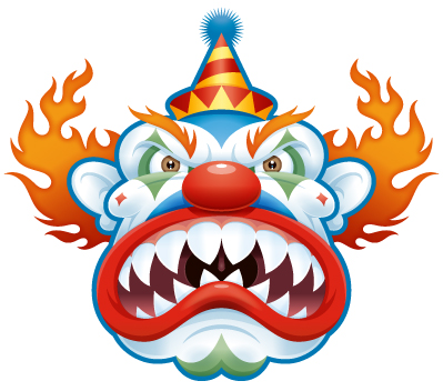 399x352 Scary Clown Clipart Clipartlook