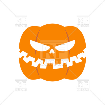 400x400 Scary Pumpkin For Halloween Royalty Free Vector Clip Art Image