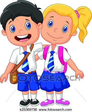 386x470 School Children Clip Art Clip Art Of Cartoon School Children